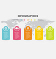 infographic design template regtangle banners vector image vector image