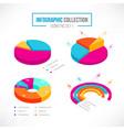isometric business pie chart set vector image