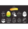 label elements Easter phrases Greeting card text vector image vector image