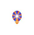 light bulb design logo template vector image vector image