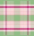 light green and pink tartan plaid pattern in fresh vector image