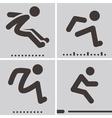 long jump vector image vector image