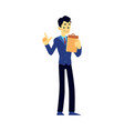male show host newscaster emcee icon vector image