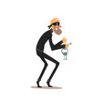 male thief in mask with master keys robber vector image vector image