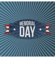 Memorial Day national Label with Text vector image