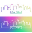 omaha skyline colorful linear style editable vector image vector image