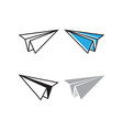 paper plane graphic template vector image