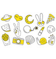 patch set on white background vector image vector image