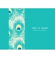 Peacock feathers frame horizontal seamless pattern vector image