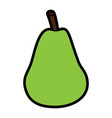 pear fresh fruit food healthy vector image