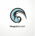 penguin logo design vector image