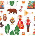 russian folk seamless pattern vector image