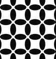 Seamless abstract black and white ellipse pattern vector image vector image