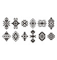 set of ethnic decorative elements isolated on vector image