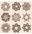 set of round pattern vector image