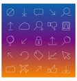 Set universal linear icons vector image