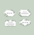 set vintage labels with leaves frame vector image vector image