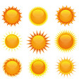 shiny suns set vector image
