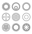 Silhouette of mechanical Cogs and Gear Wheel Set vector image vector image