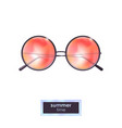 summer sunglasses with colorful gradient vector image vector image