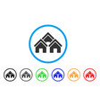 town buildings rounded icon vector image vector image