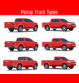 truck pickup types template drawing vector image vector image