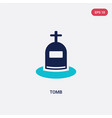 two color tomb icon from history concept isolated vector image vector image