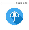 umbrella line simple icon weather symbols vector image