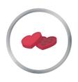Valentine s chocolate icon in cartoon style vector image