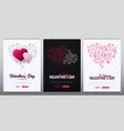valentines day banners with doodle background 14 vector image