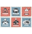Vintage Steak House Poster Set vector image vector image