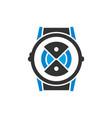 watch technology logo design vector image vector image