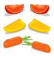 whole ripe vegetables vector image