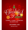 Christmas Party background design template vector image