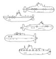set of submarines vector image