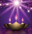 Diwali celebration background vector image
