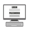 login template in computer isolated icon design vector image