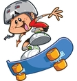 Skateboard Boy With Helmet vector image