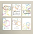 Abstract colored circles on a white background vector image vector image