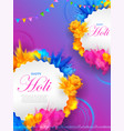 abstract colorful happy holi background card vector image vector image