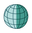 aquamarine hand drawn silhouette of sphere with vector image