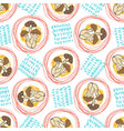autumn seamless pattern with mushrooms and vector image vector image