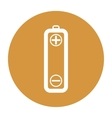 battery icons on white background vector image