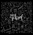 big set black and white cute hand drawn doodle vector image