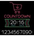Black friday sale timer vector image vector image