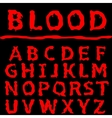 Blood letter set vector image