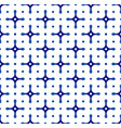 ceramic pattern blue and white vector image vector image