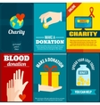 Charity posters set vector image vector image
