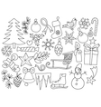 Christmas goods doodle vector image vector image