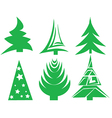 Christmas Tree Icons vector image vector image
